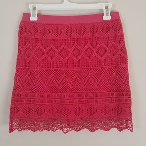 | Sale! | American Eagle Pink Crochet Skirt